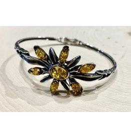 """Golden Amber """"Slavic Blossom"""" Bracelet"""