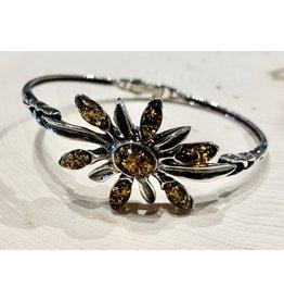 """""""Slavic Blossom"""" Amber Bracelet (Green)"""