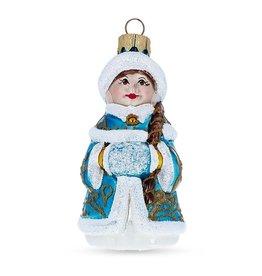 "Glass ""Snow Maiden"" Ornament"