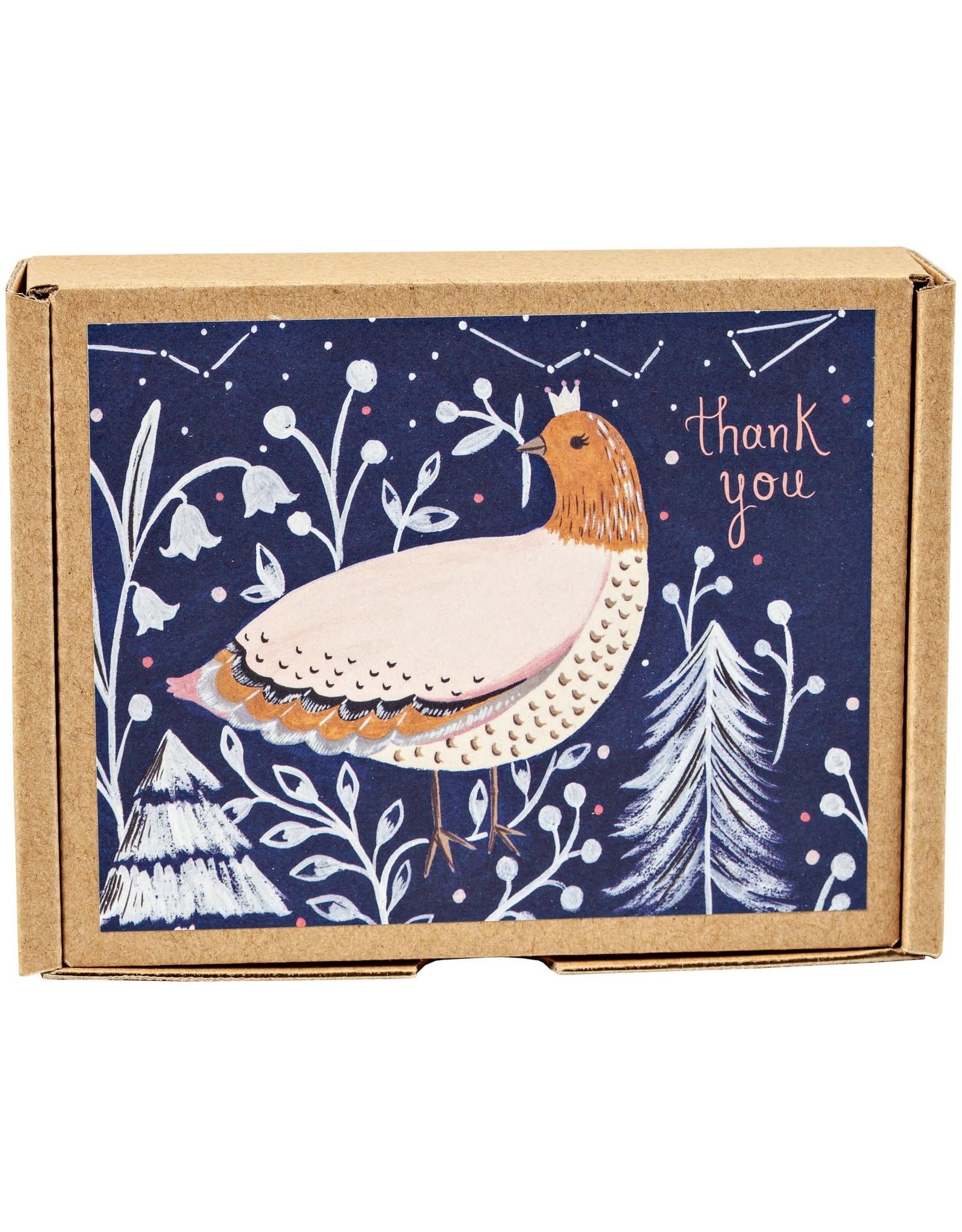 Winter Bird Thank You Cards