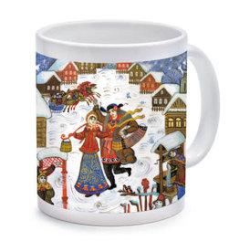 Russian Village Winter Mug