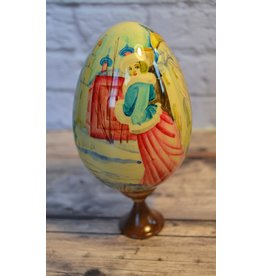 """Wooden """"Winter Holiday"""" Egg"""