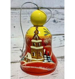 Hand-Painted Wooden Bell Ornament