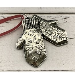Pewter Mittens Ornament