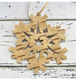 Birch Bark Snowflake Ornament