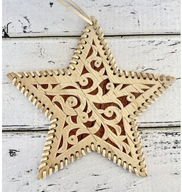 Woven Birch Bark Star Ornament