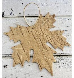 Birch Bark Maple Leaf Ornament