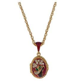"Fabergé Egg ""Heart of Lillies"" Necklace"