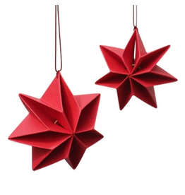 "Handmade Slavic ""Red Star"" Paper Ornament"