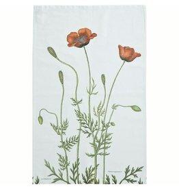 Poppies Organic Tea Towel