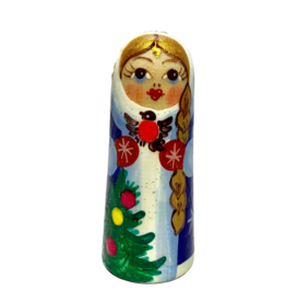 Russian Hand-Painted Snow Maiden Ornament