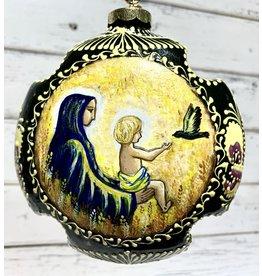 Uzbek Ceramic Ornament with Nativity Scene