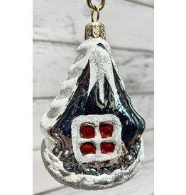 "Vintage Metal ""Winter House"" Ornament"