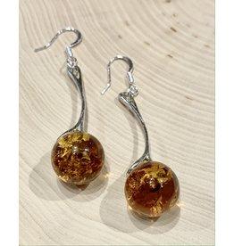 Amber Ball Earrings