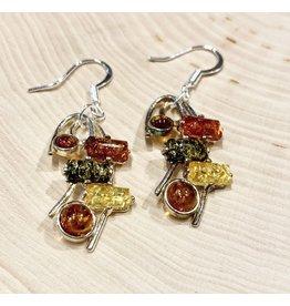 Amber Wave Earrings