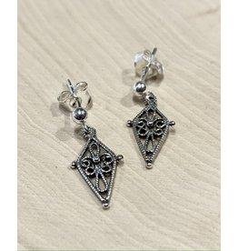 Filigree Folk Earrings (Silver)