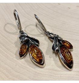 """""""Cherry Blossom"""" Amber Earrings"""