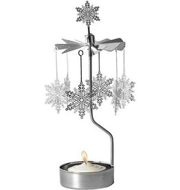 Snow Star Rotary Candle Holder (Silver)