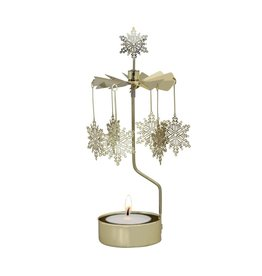 Snow Star Rotary Candle Holder (Gold)