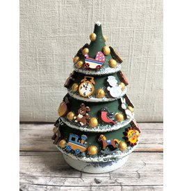 Hand-Carved Frosted Christmas Tree