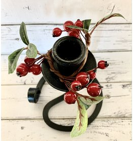 Candle Ring with Lingonberry Branches