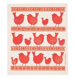 Birds & Folk Ribbon Swedish Dishcloth