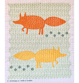Foxes Swedish Dishcloth