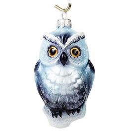 "Glass ""Snowy Owl"" Ornament"