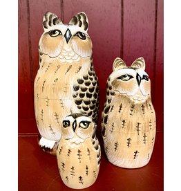 Artisan Owl Matryoshka