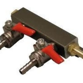 2-Way Gas Manifold 1/4''