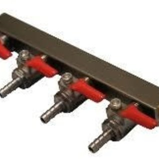 4-Way Gas Manifold 1/4''