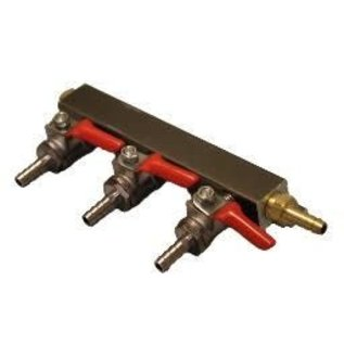 3-WAY GAS MANIFOLD 1/4''