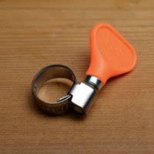 Hose Clamp, Easy-Turn 5/8'' (Orange)