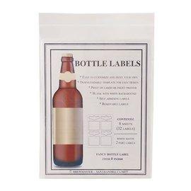 2 Part bottle labels