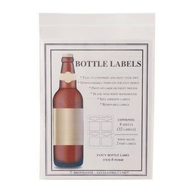 2 Part bottle labels