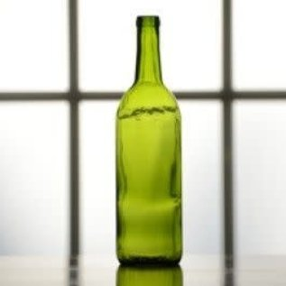 Green Wine Bottle Flat bottom