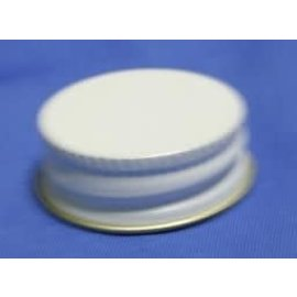 White Metal Screw Caps - 24ct