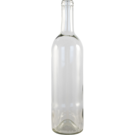 Wine Bottle Clear Punted 750ml - Case of 12
