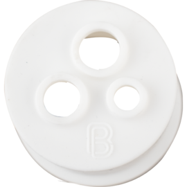 BrewBuilt 3 hole Stopper for Glass Carboy