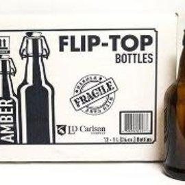 1 liter Flip top bottles-EZ cap Case of 12