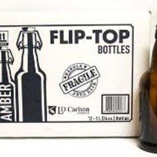 1 liter Flip top bottles-EZ cap