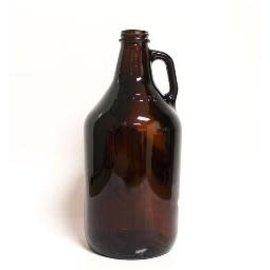 64 oz  (1/2 gal) Glass Jug  - Amber - Case of 6
