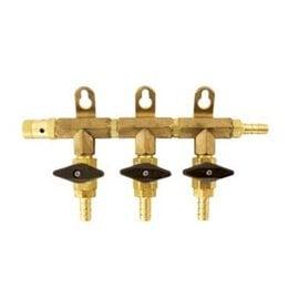 3 -Way Gas Manifold 5/16 -  (Brass)