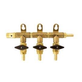 Gas Manifold 5/16 - 3 Way
