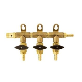3 -Way Gas Manifold 5/16 -  (Brass)