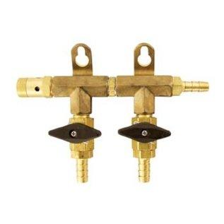 "2-Way Gas Manifold - 5/16"" (Brass)"