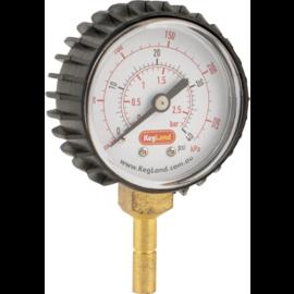 Push-In Pressure Gauge (0-40 psi)