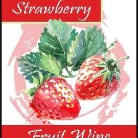 Strawberry Wine Labels 30/Pack