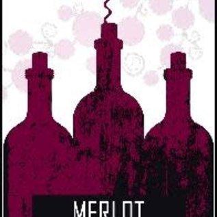 Merlot Wine Labels 30/Pack