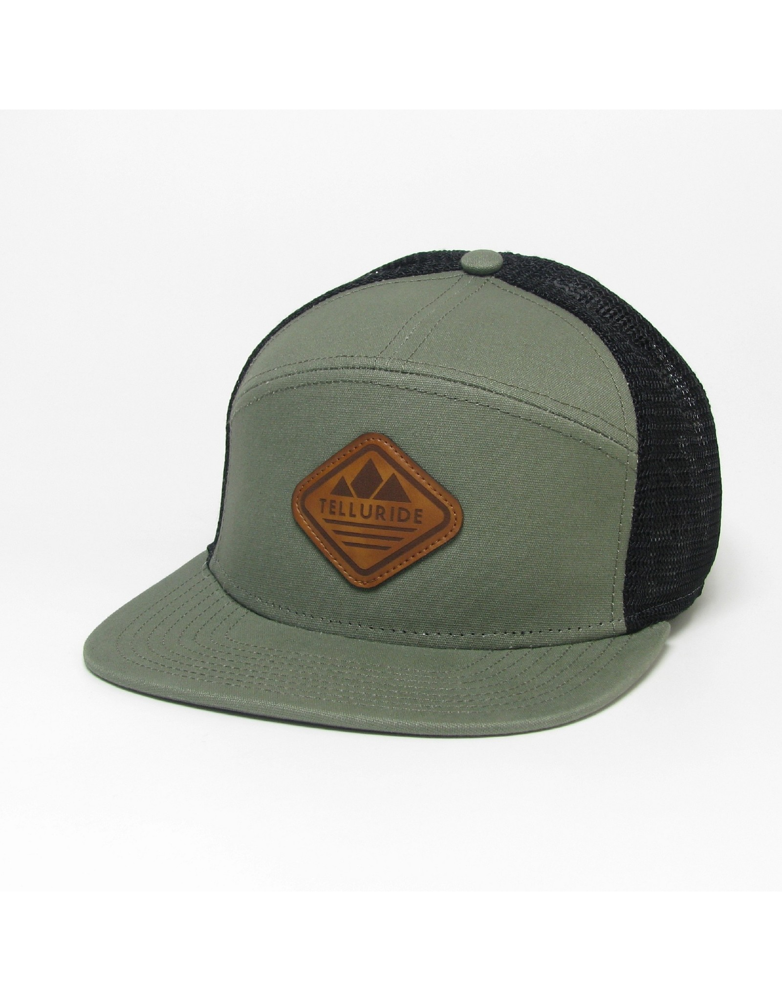 LEGACY LEATHER DIAMOND HAT OLIVE 1200012